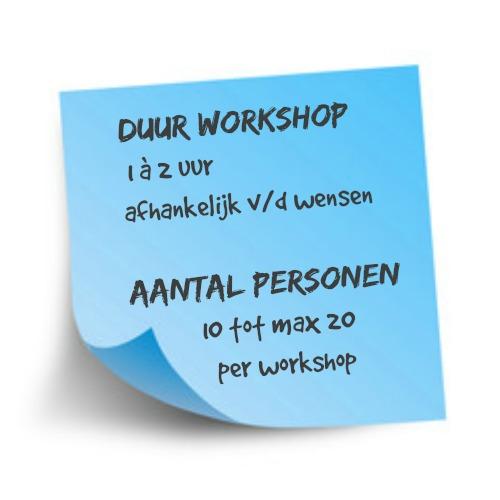 Verdiepende workshops die zorgen voor verbinding