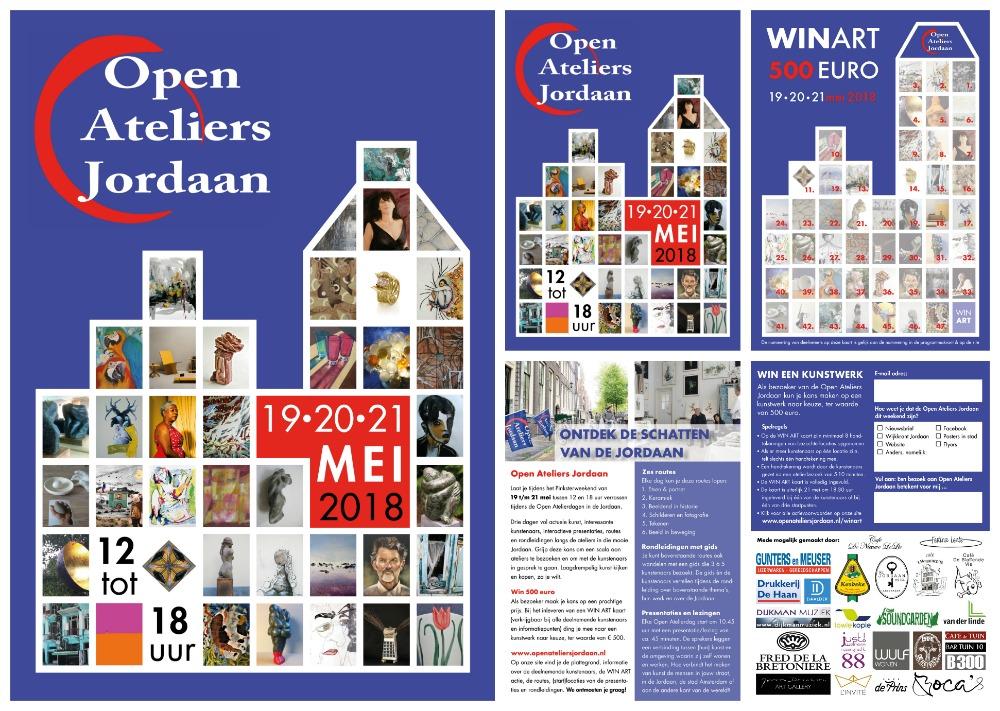 Drukwerk Open Ateliers Jordaan 2018_door Helden-daden.nl